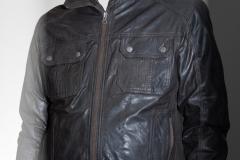TOM TAILOR Leather Jacket Brown